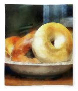 Food - Bagels For Sale Fleece Blanket