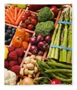 Food Compartments  Fleece Blanket