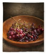 Food - Grapes - A Bowl Of Grapes  Fleece Blanket