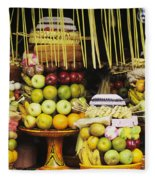 Food In Bali Fleece Blanket