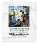 Food Will Win The War Fleece Blanket