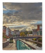 Foot Bridge At Gas Street Basin  Birmingham Fleece Blanket