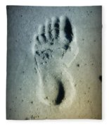 Foot Print In The Sand Fleece Blanket