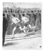 Foot Race, 1868 Fleece Blanket
