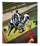Football Derby Rams Against Nottingham Forest Red Dogs Fleece Blanket
