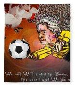 Football Derby Rams Against Swansea Swans Fleece Blanket
