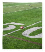 Football On The 50 Yard Line Fleece Blanket