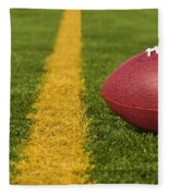 Football Short Of The Goal Line Close Fleece Blanket