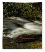 Footbridge Over Raging Moccasin Creek Fleece Blanket