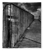 Footbridge Railings Fleece Blanket