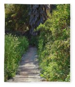 Footpath In Peters Canyon I Fleece Blanket