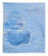 Footprint In The Snow Fleece Blanket