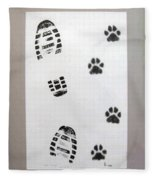 Footprints- Friends Fleece Blanket