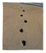 Footprints In The Sand ... Fleece Blanket
