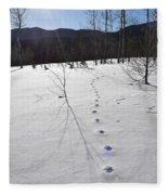Footprints In The Snow Fleece Blanket