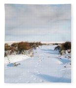 Footprints In The Snow Iv Fleece Blanket