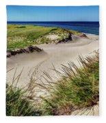 Footsteps In The Dunes Fleece Blanket