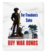 For Freedom's Sake Buy War Bonds Fleece Blanket