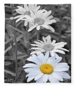 For The Love Of Daisy Fleece Blanket