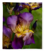 For The Love Of Iris Fleece Blanket