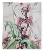 For The Love Of Orchids Fleece Blanket