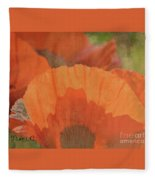 For The Love Of Poppy Fleece Blanket