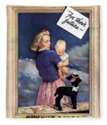 For Their Future Buy War Bonds Fleece Blanket