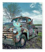 For Whom The Truck Tows Fleece Blanket