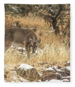 Foraging In The Snow Fleece Blanket