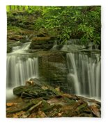 Forbes State Forest Twin Falls Fleece Blanket