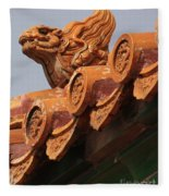 Forbidden City Guardian Fleece Blanket