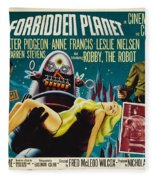Forbidden Planet In Cinemascope Retro Classic Movie Poster Fleece Blanket