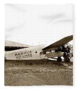 Ford 4-at-a Maddux Air Lines Los Angeles Circa 1928 Fleece Blanket