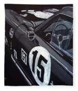 Ford Cobra Racing Coupe Fleece Blanket