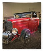 Ford Coupe Cartoon Photo Abstract Fleece Blanket
