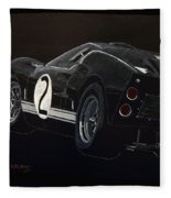 Ford Gt40 Racing Fleece Blanket