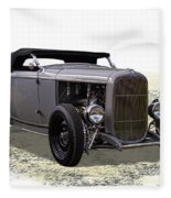 Ford Hot Rod Roadster Fleece Blanket
