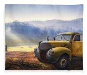 Ford In The Fog Fleece Blanket