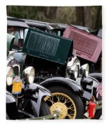 Ford Model A Line Up Fleece Blanket