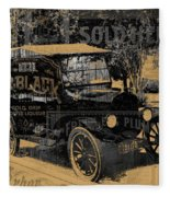 Ford Model T Made Using Found Objects Fleece Blanket