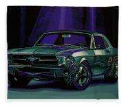 Ford Mustang 1967 Painting Fleece Blanket
