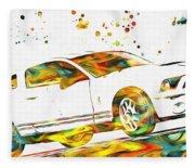 Ford Mustang Paint Splatter Fleece Blanket