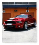 Ford Mustang Shelby Gt500 Fleece Blanket