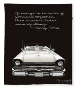 Ford Success Poster Fleece Blanket