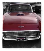 Ford Thunderbird Red V1 Fleece Blanket