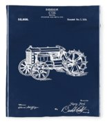 Ford Tractor Patent 1919 Fleece Blanket