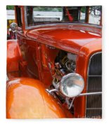 Ford V8 Right Side View Fleece Blanket
