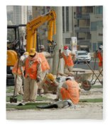Foreign Workers - Manama Bahrain Fleece Blanket