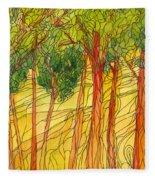 Forest #15 Fleece Blanket