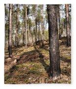 Forest Next Summer After A Fire Fleece Blanket